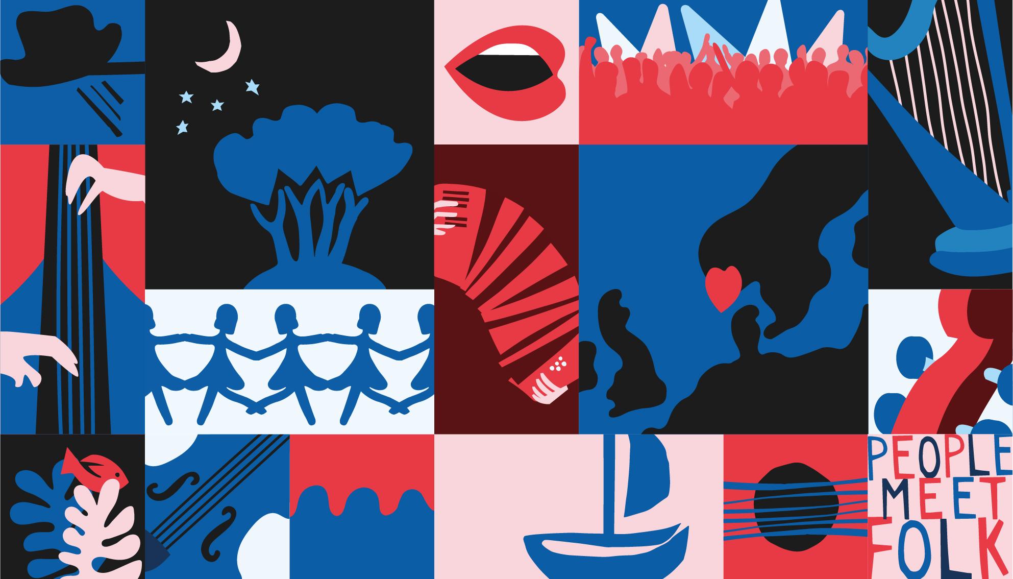 Farsund Folk Festival illustrasjon